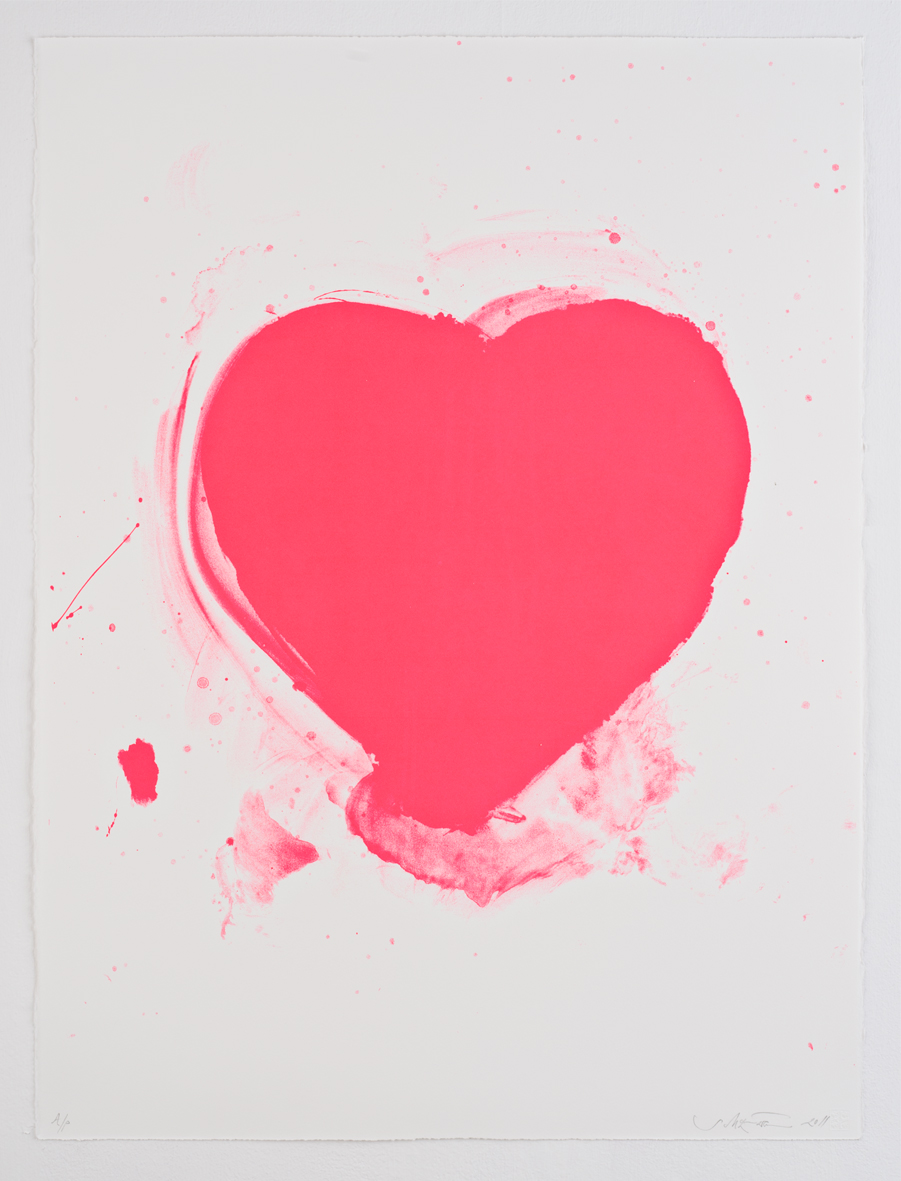 Sam McEwen Love Heart Print Pink